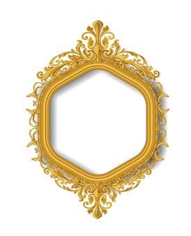 Marco de imagen de oro vintace