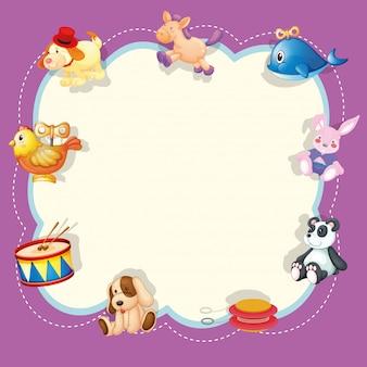 Un marco de juguetes para niños.