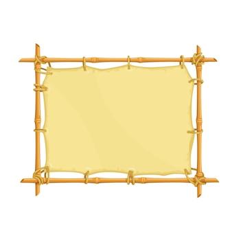 Marco de letrero de bambú