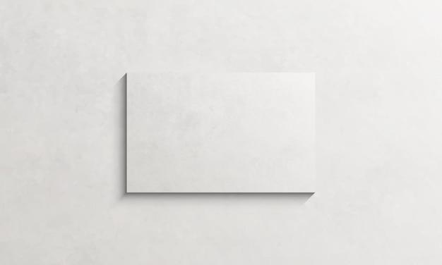 Marco de lienzo blanco con textura en la pared. plantilla para tu diseño.