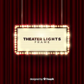 Marco de luces de teatro