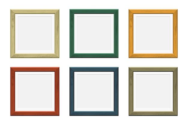 Marco de madera de imagen coloreada