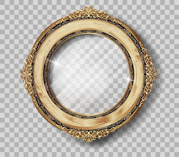 El marco de madera real del arte oval foto