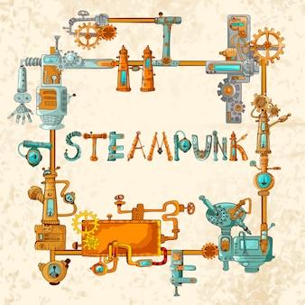 Marco de máquinas industriales