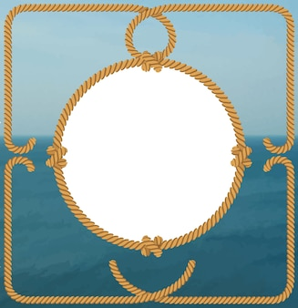 Marco de mar con cuerda