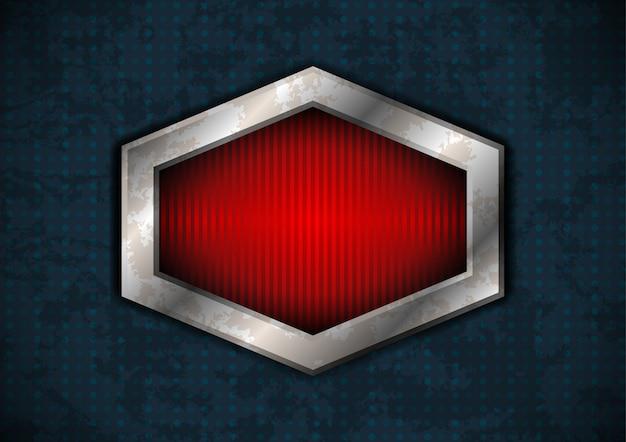 Marco de metal hexagonal