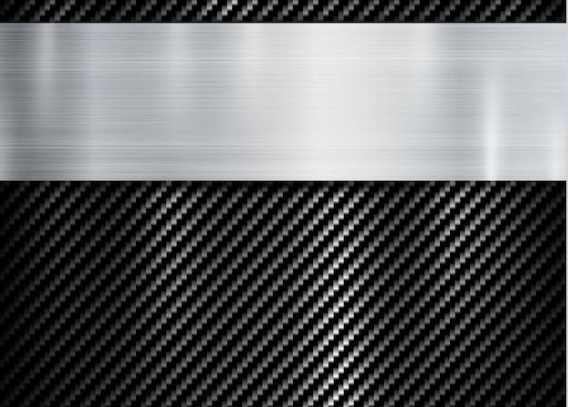 Marco metálico abstracto en el patrón de textura de carbono kevlar