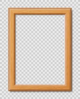 Marco moderno para fotos o imágenes con sombra. marco de madera realista.