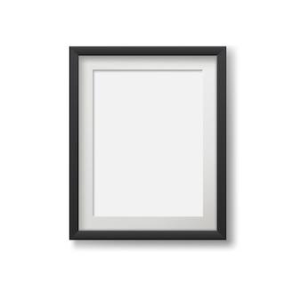 Marco moderno realista para pinturas aisladas sobre fondo blanco.