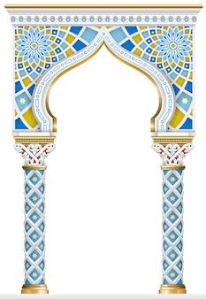 Marco de mosaico de arco oriental