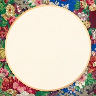 Marco con motivos florales decorativos ilustración ornamental victoriana