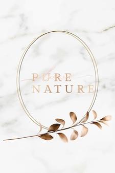 Marco de la naturaleza en mármol