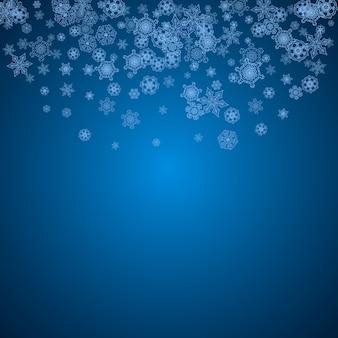 Marco de navidad y año nuevo con copos de nieve.