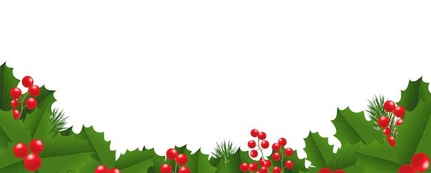 Marco de navidad con holly berry