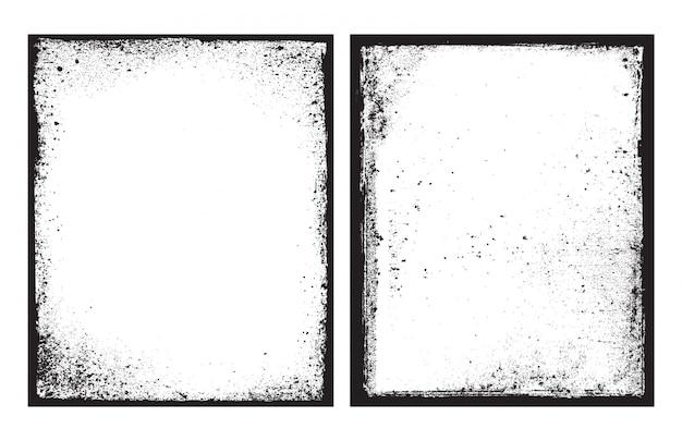 Marco negro con textura sucia