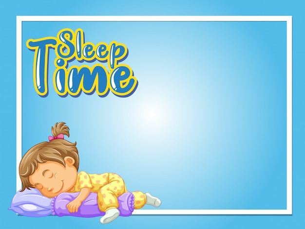 Marco con niña durmiendo en la cama