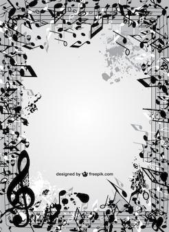 Marco de notas musicales