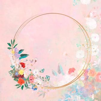 Marco en una obra de arte en colores pastel