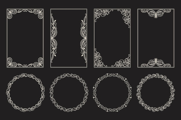 Marco ornamental caligráfico