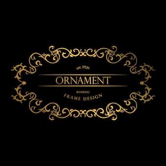 Marco ornamental dorado