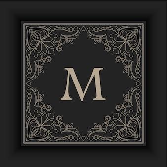 Marco ornamental con inicial