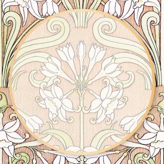 Marco ornamental vector vintage botánico