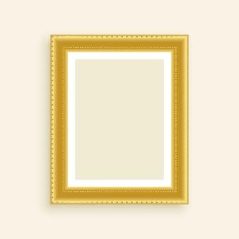 Marco de oro de la foto de lujo vintage