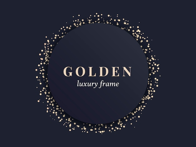 Marco de oro de lujo