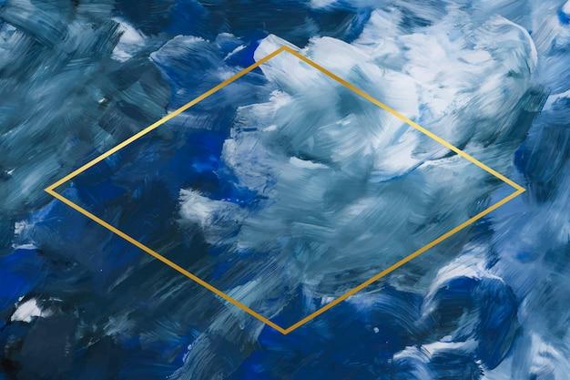 Marco de oro rombo sobre fondo abstracto