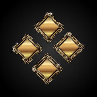 Marco de oro vector de lujo