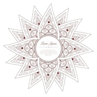 Marco de paisley doodle dibujado a mano.