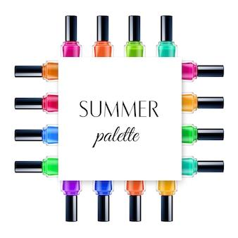 Marco de paleta de verano