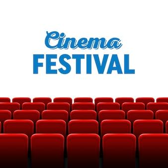 Marco de pantalla de cine de cine y teatro interior.