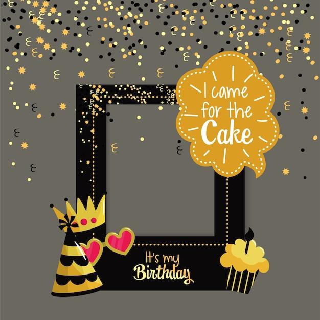 Marco del partido para la celebración del feliz cumpleaños.