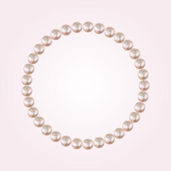 Marco pastel abstracto de fondo de perlas