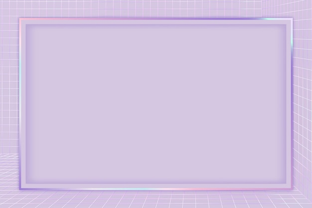 Marco con patrón de cuadrícula 3d púrpura