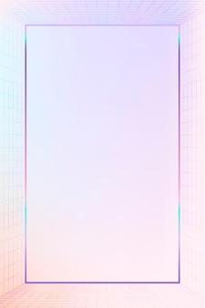 Marco con patrón de cuadrícula pastel 3d