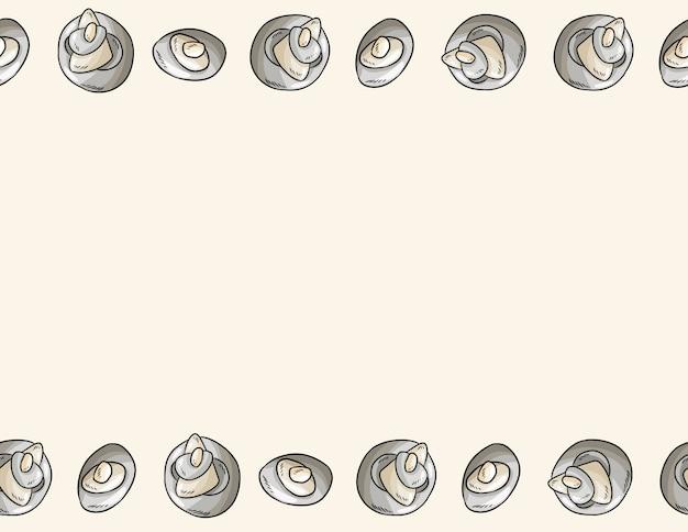 Marco de piedras de guijarros de mar