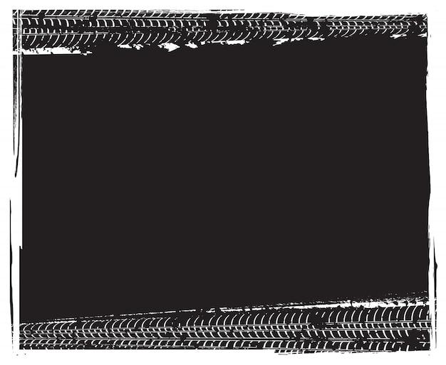 Marco de pistas de neumático grunge
