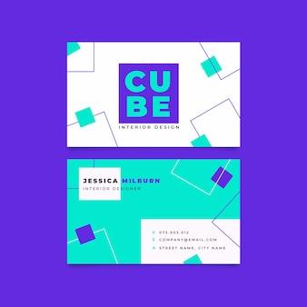 Marco de plantilla de tarjeta de visita de cuadrados