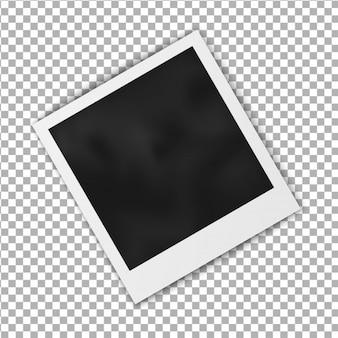 Marco polaroid en blanco realista del marco de la foto aislado en fondo transparente.