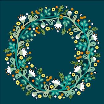 Marco de primavera con flores de colores