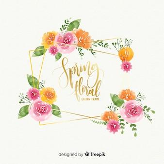 Marco primaveral de flores