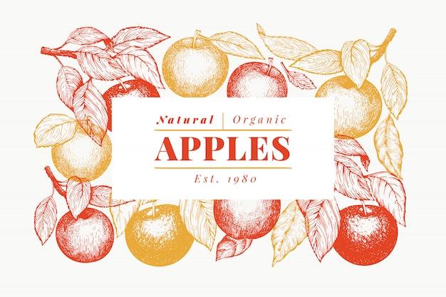 Marco de rama de manzana