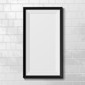 Marco realista aislado sobre fondo blanco. ilustración.