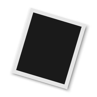Marco realista de la foto del vector.