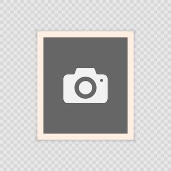 Marco realista retro de la foto del vector, diseño de la foto de la plantilla. aislado en el fondo transparente