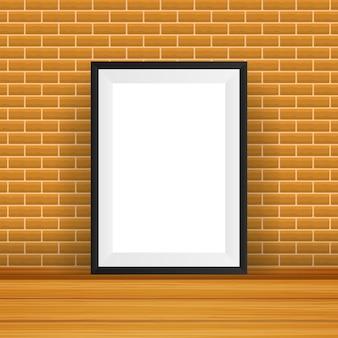 Marco rectangular. bueno para mostrar sus proyectos. en blanco para exhibición