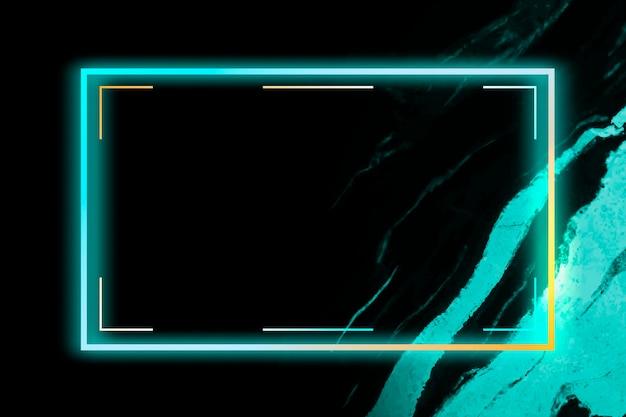 Marco rectangular sobre fondo abstracto