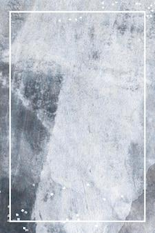 Marco de rectángulo sobre fondo gris grunge